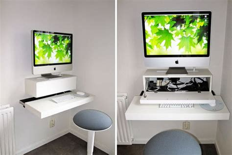Wall Mounted Desk Ikea Hack by 15 Diy Computer Desks Tutorials For Your Home Office 2017