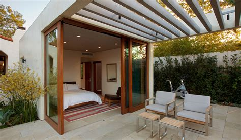 Home Terrace : Modern Adobe House In California By Dutton Architects
