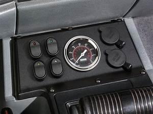 84 - 96 Jeep Cherokee 12 Volt Switch  Gauge  U0026 Receptacle Panel