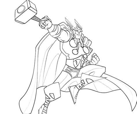 thor 12 super héros coloriages à imprimer