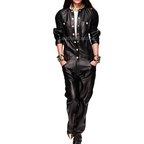 leather jumpsuits designer leather jumpsuit for