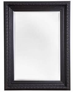 Spiegel Mit Lederrahmen : vigo spiegel mit schwarzem barock rahmen ~ Indierocktalk.com Haus und Dekorationen