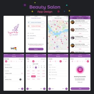 hair  beauty app designs  apps  browse