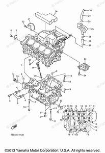 Yamaha Motorcycle 1999 Oem Parts Diagram For Crankcase