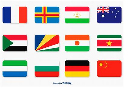 Flag Icon Flat Vector Vectors Flags Icons