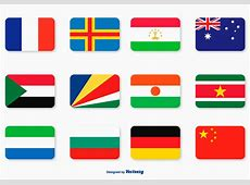Flat Flag Icon Set Download Free Vector Art, Stock