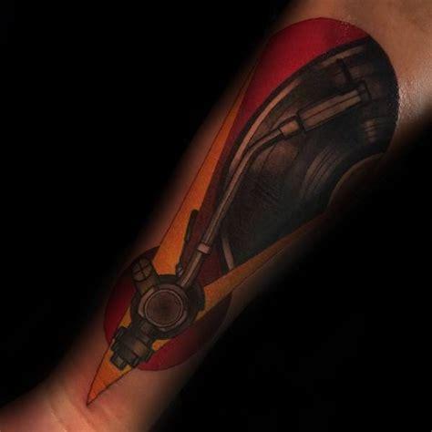 vinyl record tattoo designs  men long playing ink