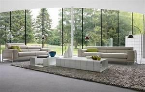 120 idees de meubles de salon luxueux par roche bobois With tapis de gym avec canapes cuir luxe