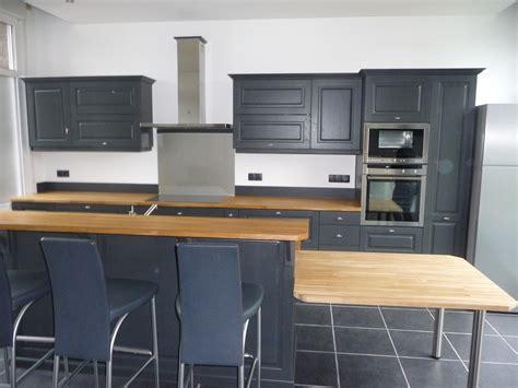 cuisine gris et cuisine equipée chêne gris foncé cuisines liebart