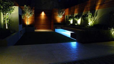 Modern Garden Design And Landscaping Night Time Lighting