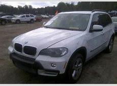 Export Salvage 2007 BMW X5 30L WHITE ON BEIGE