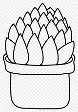 Aloe Vera Coloring Succulent Plant Pot Cactus Icon Nature Printable sketch template