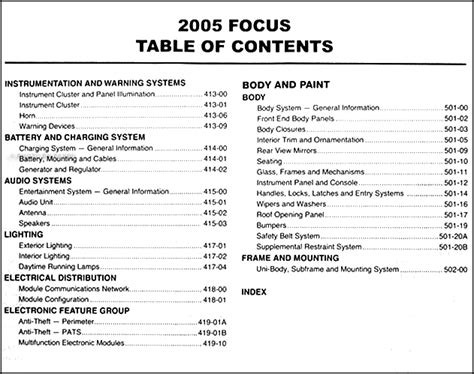 ford focus repair shop manual original