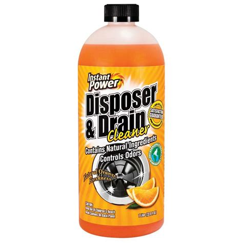 best sink drain cleaner instant power 33 8 oz disposal and drain cleaner orange