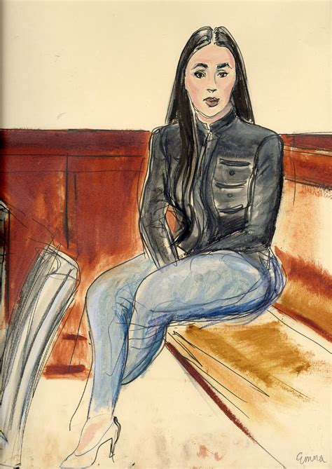 ILLUSTRATED COURTROOM: EMMA CORONEL AISPURO WIFE OF