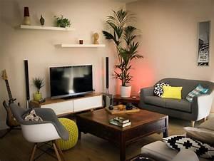 Décoration Télévision Murale : d co salon tv d co sphair ~ Teatrodelosmanantiales.com Idées de Décoration