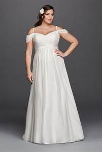 A line plus size wedding dress with swag sleeves style for Plus wedding dress with sleeves