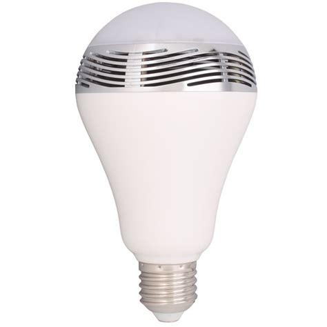 bohlam led rgb e27 dengan bluetooth speaker white