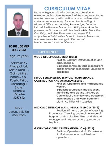 Curriculum Vitae Josue Leal English. Cover Letter General Template. Letter Of Resignation Due To Health. Cover Letter For Pharmacist Assistant. Resume Cv And Vcard Theme Free Download. Resume Free With Photo. Letter Of Intent Sample For Working Student. Cover Letter With No Related Experience. Objective For Resume Trainer