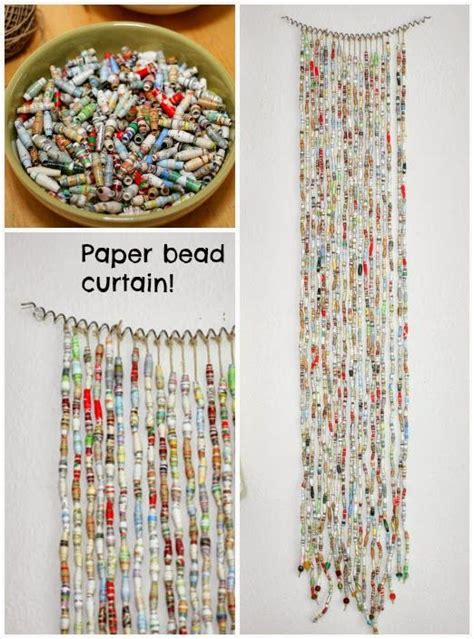 paper beads  magazine pages  easy