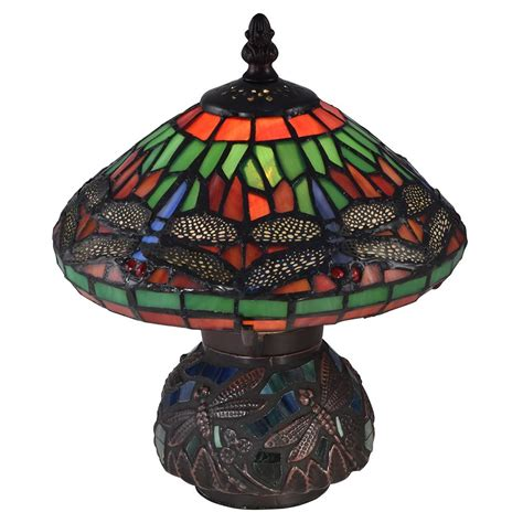 dale tiffany dragonfly l shade dale tiffany 10 25 in red dragonfly antique bronze accent