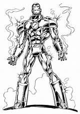 Iron Coloring Pages Printable Cool sketch template