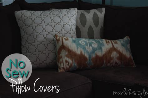 sewing pillow covers no sew pillow covers