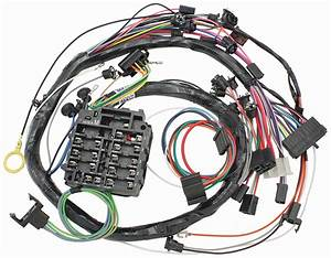 M U0026h 1969 Chevelle Dash  Instrument Panel Harness W  Warning