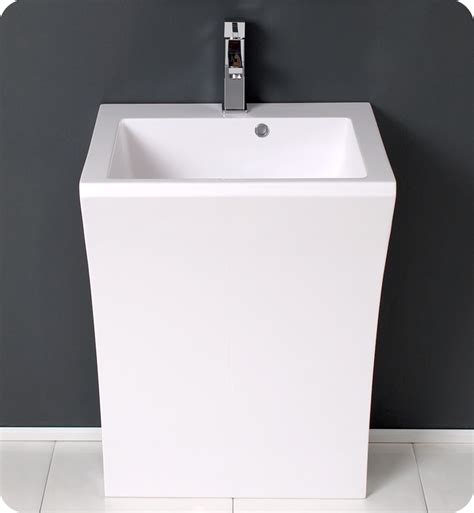 contemporary bathroom pedestal sinks 22 quadro white pedestal sink modern bathroom vanity