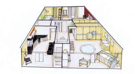 d une maison a l autre am 233 nagement d une maison sur plan 91 salle de bain pinkspace clain architecte