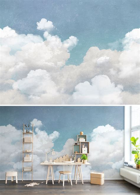 Wall Murals Sky by Wall Mural Wallpaper Blue Turquoise Sky