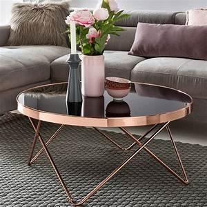 Tisch Rund Glas : design couchtisch round 82cm rund glas kupfer lounge tisch verspiegelt moderner ~ Frokenaadalensverden.com Haus und Dekorationen