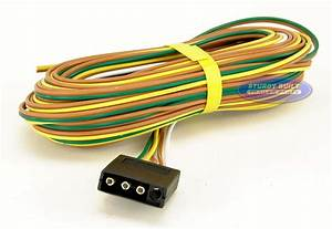 Trailer Light Wiring Harness 4 Flat 25ft To Re
