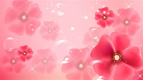 Group of Light Pink Abstract Wallpapers