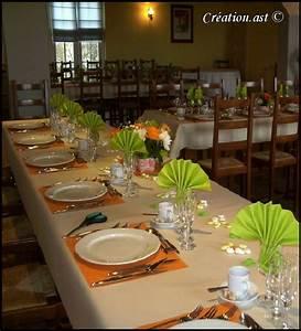 Orange Et Vert Dunkerque : mes creations decor de table ~ Dailycaller-alerts.com Idées de Décoration