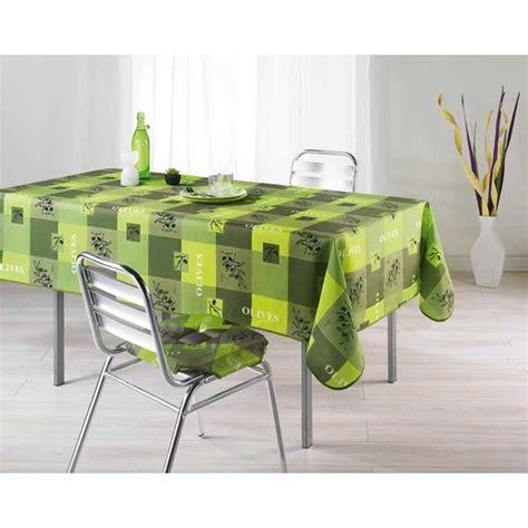 nappe de cuisine rectangulaire nappe polyester 150x240cm provencia vert anis
