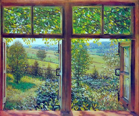 Offenes Fenster Bild by Provincial Russia Frozen In 10 Paintings By Konstantin