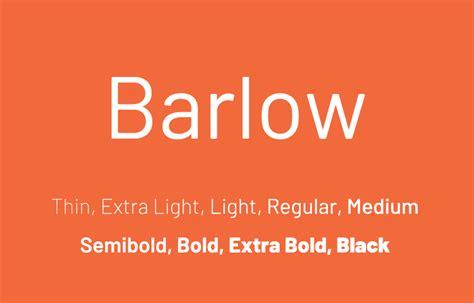 barlow font family  fonts