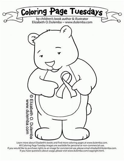 Cancer Breast Coloring Ribbon Pages Awareness Week
