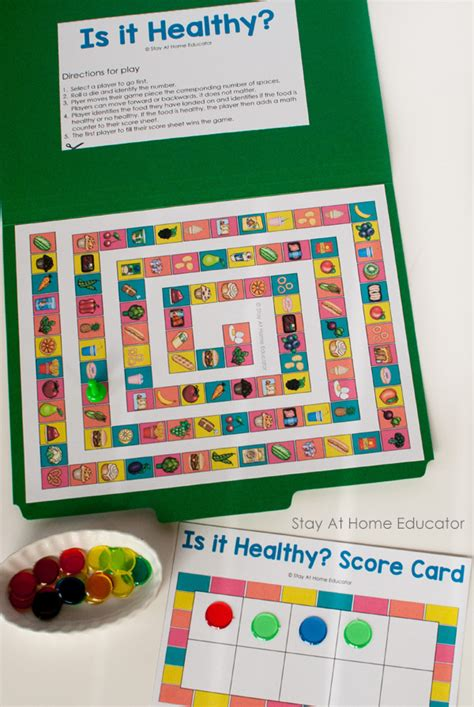 how to teach healthy with a preschool nutrition theme 609 | Food and Nutrition Activity Pack healthy and unhealthy choices file fold game