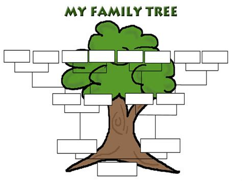 As you see, it has a very friendly and stylish design displaying the mother's side of the family on the left while the father's side is on the right. Family Tree Template   Clipart Panda - Free Clipart Images