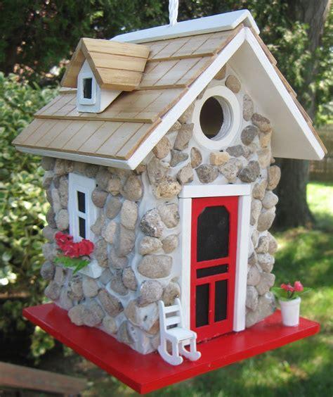 interesting bird houses hb 6004s fieldstone guest cottage single unit stone birdhouses pinterest bird houses