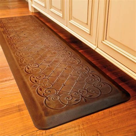 decorative kitchen floor mat trellis scroll anti fatigue comfort mat 6499