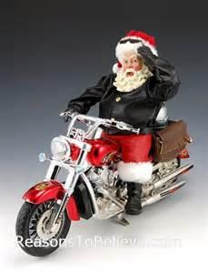 motorcycle santa santa claus figurines and hand carved wooden santas