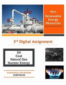 Non renewable sources of energy
