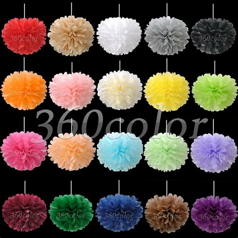 tissue paper pom poms flowers blooms wedding party