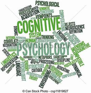 Abstract word cloud for cognitive psychology with related ...