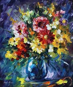 Leonid Afremov Surreal Flowers painting - Surreal Flowers ...