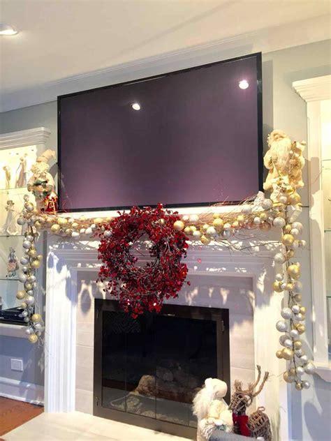 ideas ating farmhouse christmas decor fireplace mantel for