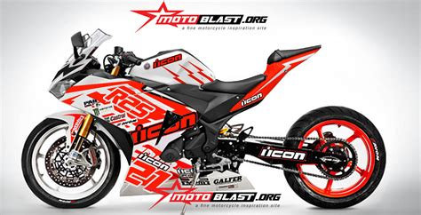 modif yamaha r25 icon drift motorcycle motoblast